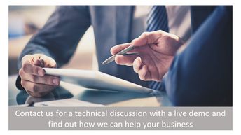 Contact Us for a Technical Discussion with a Live Demo