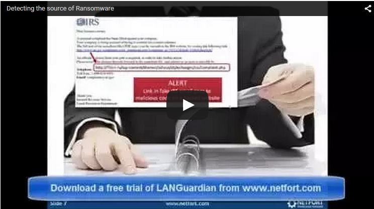 NetFort LANGuardian Detecting the Source of Ransomware Video