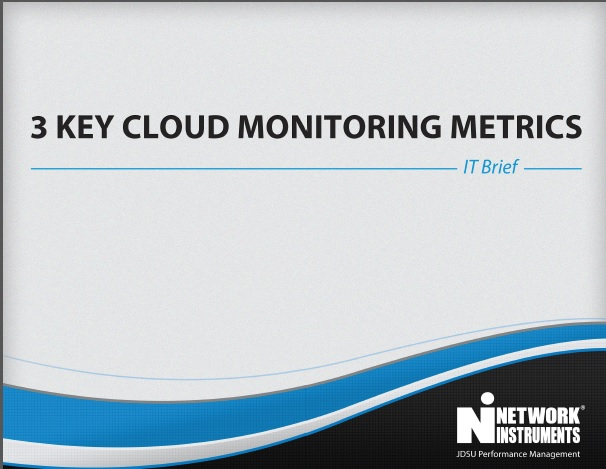 3 key cloud monitoring metrics