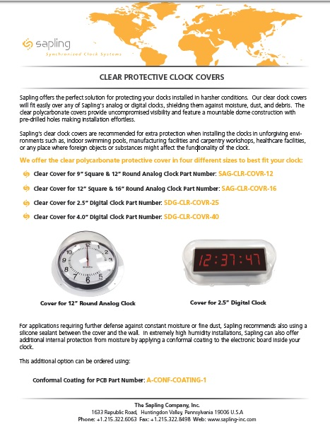 Clear Protective Clock Case brochure