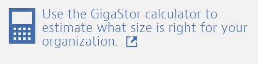 Gigastor Calculator