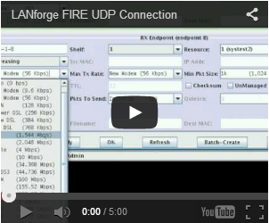 LANforge Fire UDP Connection Video