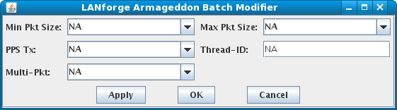 LANforge-GUI Armageddon Batch Modifier