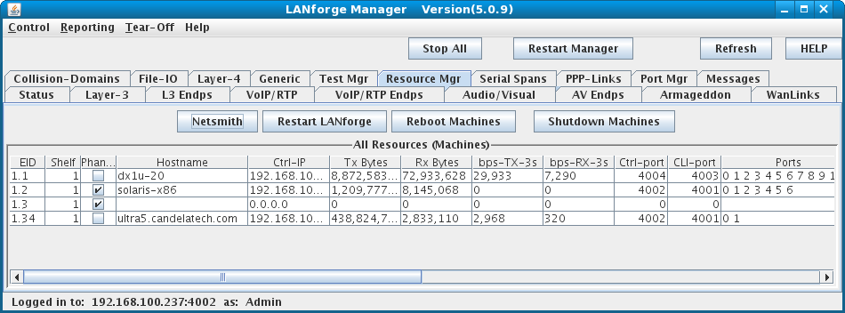 LANforge-GUI Resources Tab