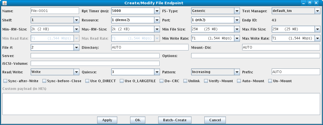 LANforge-GUI File-Endpoint Create/Modify