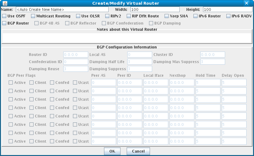 Virtual Router Configuration