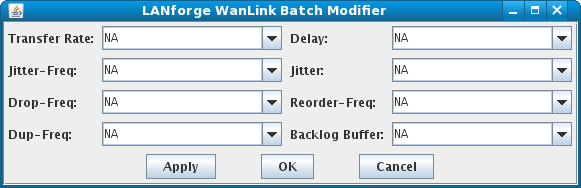 LANforge-GUI WanLink Batch Modifier