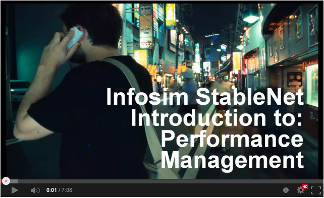 Infosim Stablenet Introduction to Performance Management