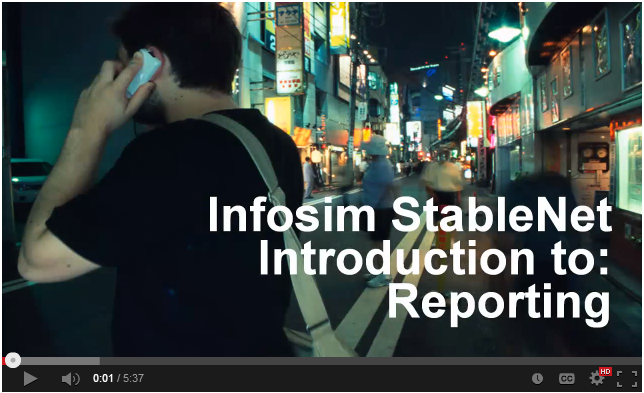 Infosim StableNet Network Monitoring Software- Introduction to Reporting