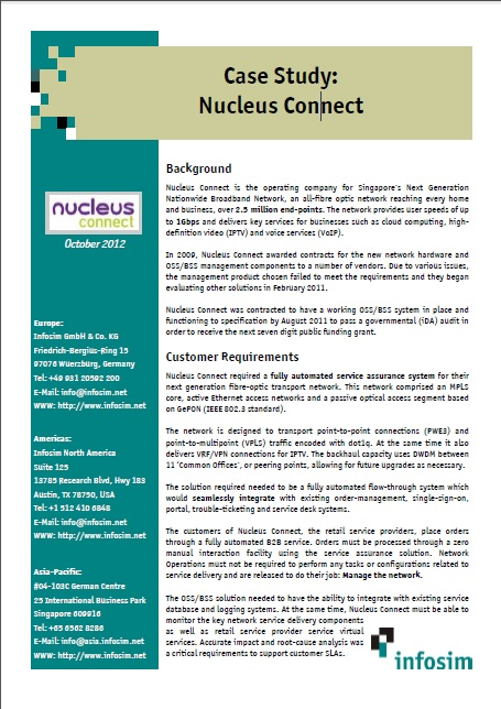 Infosim StableNet- Case Study Nucleus Connect