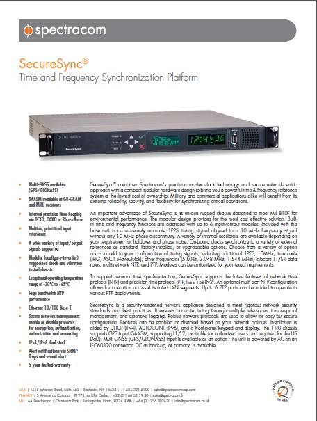 SecureSync data sheet