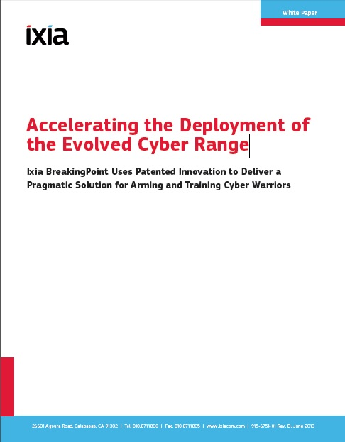 Acccerlating the Deployment of the Evolved-Cyber Range