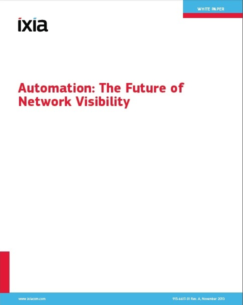 Ixia- Automation the Future of Network Visibility