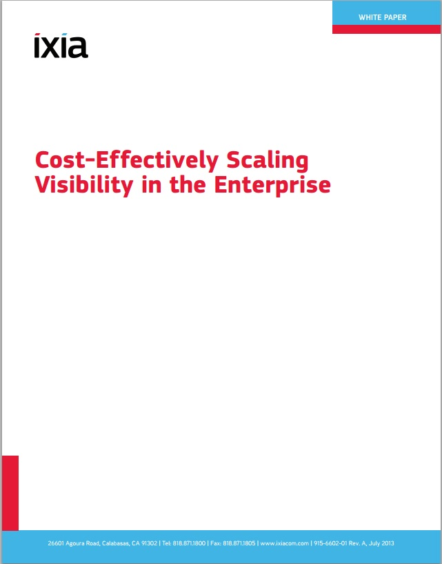 Cost Effectively Scaling Visibility In The Enterprise