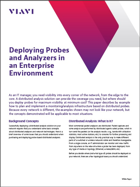 Deploying Probes and Analyzers in an Enterprise Environment