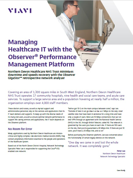 Managing Healthcare IT with a Observer Performance Management