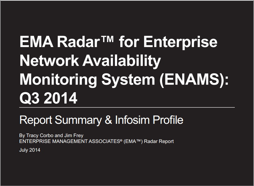 EMA Radar for Enterprise Network Availability Monitoring System Q3 2014