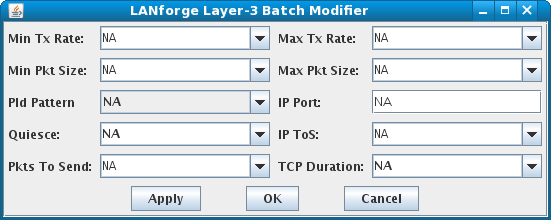 LANforge-GUI Layer-3 Batch Modifier