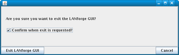 Exit LANforge-GUI confirmation Window