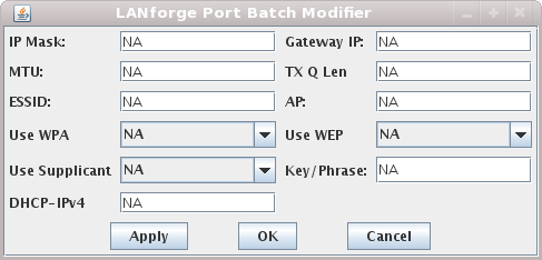 LANforge-GUI Port Batch Modifier