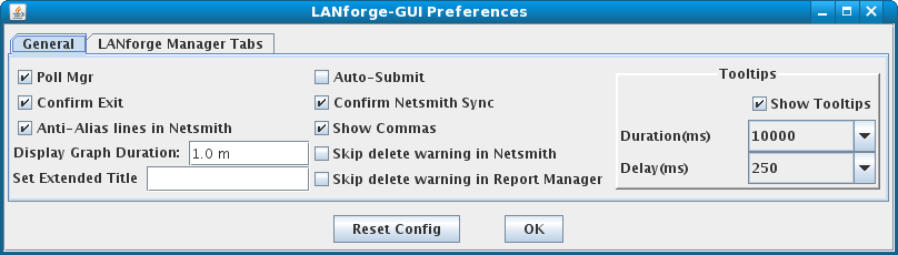 LANforge-GUI General Preferences Window