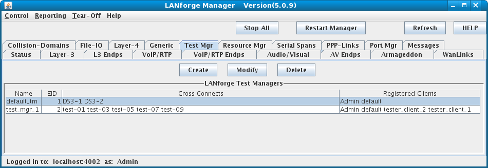 LANforge-GUI Test Manager