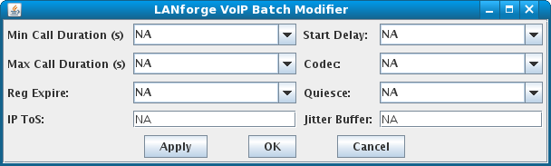 LANforge-GUI VoIP Batch Modifier