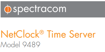 Spectracom NetClock 9489 Time Server