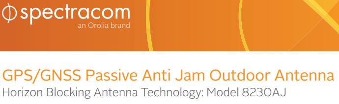 Spectracom 8230AJ Anti-Jamming Antenna