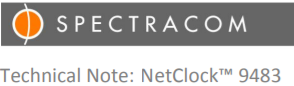 Spectracom NENA Compliance for NetClock 9483