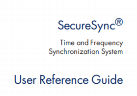 Spectracom SecureSync Instruction Manual