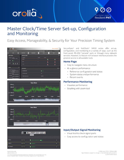 Spectracom Time Server/ Master Clock Web UI Overview